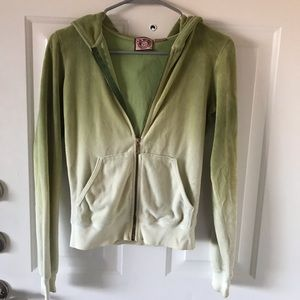Juicy Couture classic green ombré sweatshirt sizeS